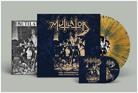 "MUTILATOR ""Evil conspiracy:Demos 86"" LP+CD (die-hard splatter)"