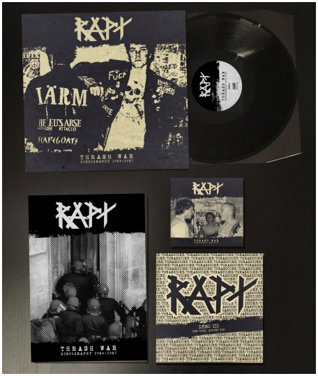 "RAPT ""Thrash war /discography 1984-87"" LP+7""+CD (black)"