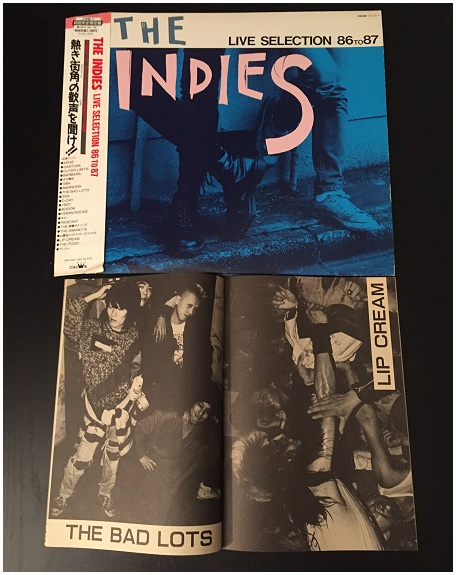 "V.A. ""THE INDIES Live selection 86 to 87"" (LIPCREAM, GASTUNK!)"