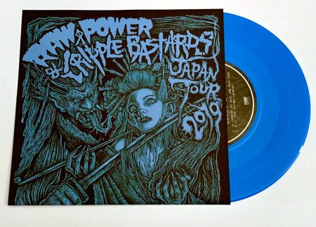 "CRIPPLE BASTARDS / RAW POWER ""Split\"" (2nd press,blue hard vinyl)"
