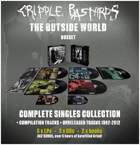 "CRIPPLE BASTARDS ""The outside world"" BOXSET (5xLP,2xCD,2xbooks!)"