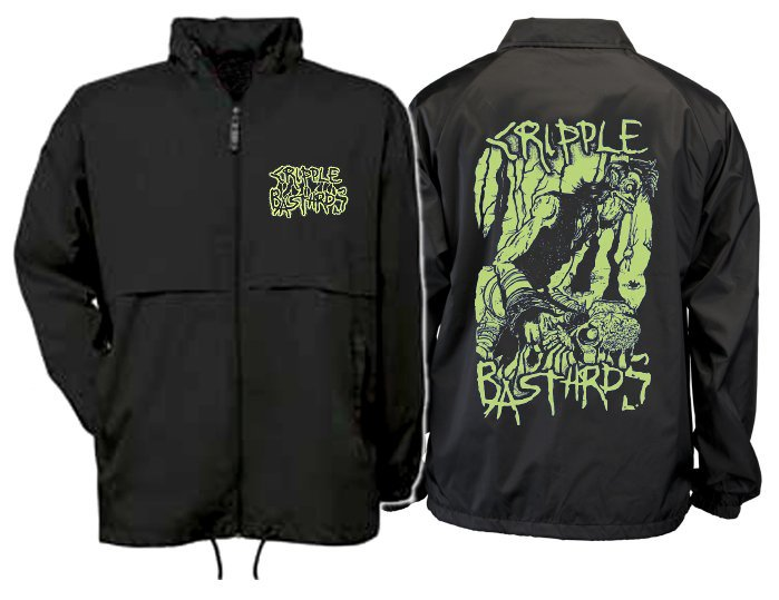 "CRIPPLE BASTARDS ""Skulldigger - green print"" (windbreaker)"