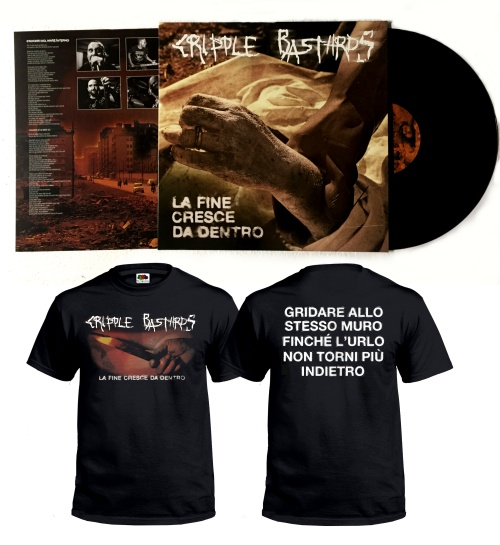 "CRIPPLE BASTARDS ""La fine cresce..\"" TSHIRT + LP ltd. bundle!"