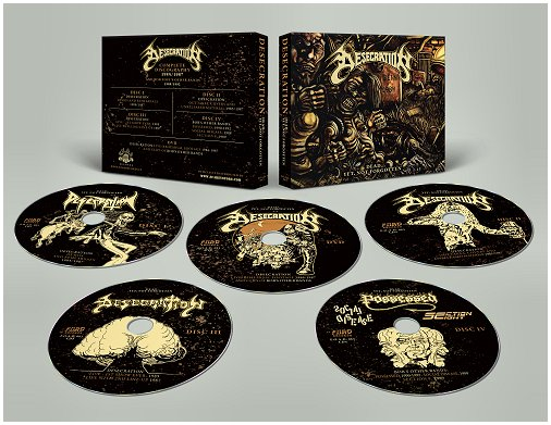 "DESECRATION ""Dead... yet,not forgotten"" 4xCD+1DVD Box"