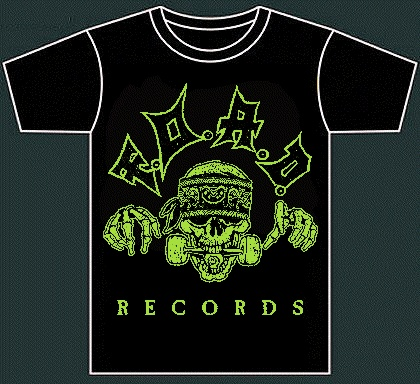 F.O.A.D. Records (official tshirt, green print)