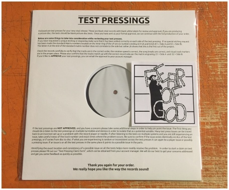 "FEAR OF GOD ""s/t 21 track EP"" (12"" version - TEST PRESSING!!!)"