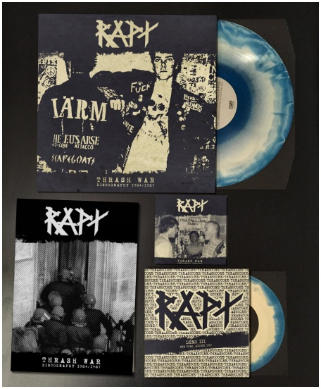 "RAPT ""Thrash war /discography 1984-87\"" LP+7\""+CD (diehard)"