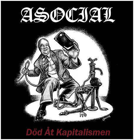 "ASOCIAL ""Dod at kapitalismen"" (black)"