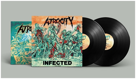 "ATROCITY ""Infected + early demos\"" 2xLP (black)"