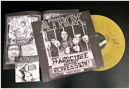 "ATROX ""HC against repression\"" LP+CD (diehard swirl) PREORDERS"
