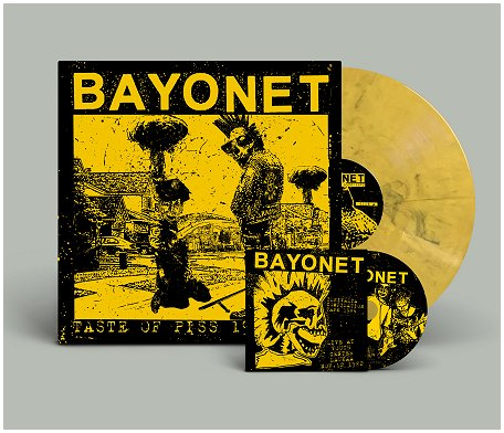 "BAYONET ""Taste of piss 1982-83"" LP+CD (ltd. yellow) PREORDER"