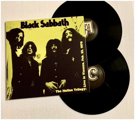 "BLACK SABBATH ""Italian trilogy: Vicenza, Feb. 22, 1973"" 2xLP!"