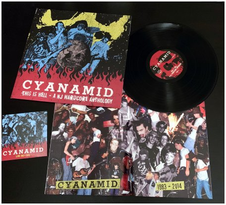 "CYANAMID ""This is hell - A NJ HC anthology\"" LP+CD (black)"