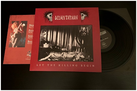 "DECAPITATION ""Let the killing begin - 1985\"" (black)"