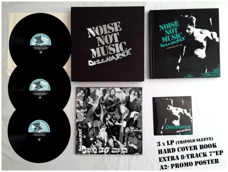 "DISCHARGE ""Noise not music\"" BOXSET (black vinyl)"