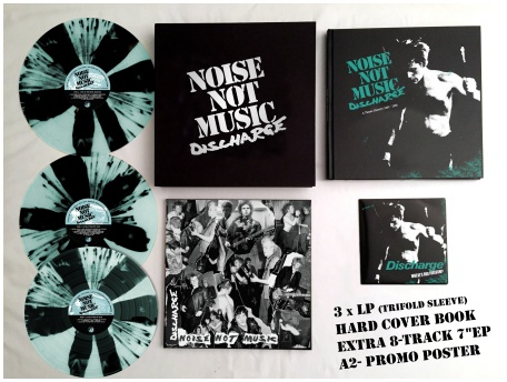 "DISCHARGE ""Noise not music"" BOXSET(diehard striped vinyl) PREORD"