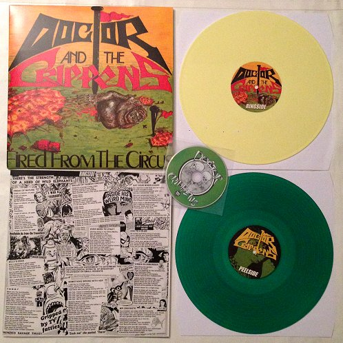 "DOCTOR AND THE CRIPPENS ""Fired from the circus"" [2xCOLOR LP+CD]"