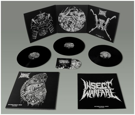 "INSECT WARFARE ""Entomological siege"" 3LP+DVD set (black)"