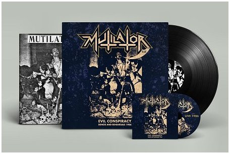 "MUTILATOR ""Evil conspiracy: Demos 86\"" LP+CD (black)"