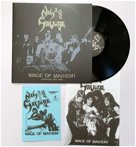 "NASTY SAVAGE ""Wage of mayhem+rarities 1983-85\"" LP (black)"