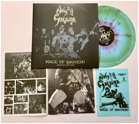 "NASTY SAVAGE ""Wage of mayhem+rarities 83-85"" LP (diehard) PREORD"