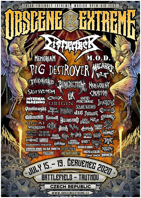 OBSCENE EXTREME FEST 2020 TICKET (pre-sales)