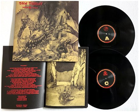 "SAW THROAT ""Indestroy (extended)"" 2xLP (black)"