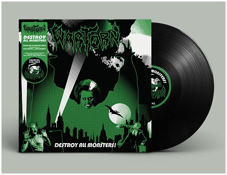 "WARTORN ""Destroy all monsters!"" (black vinyl)"