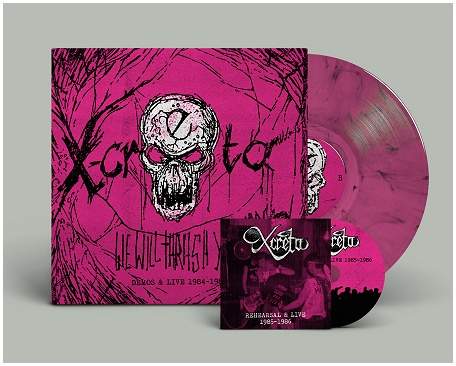 "X-CRETA ""We will thrash you!! 84-86\"" LP+CD (diehard swirl)"